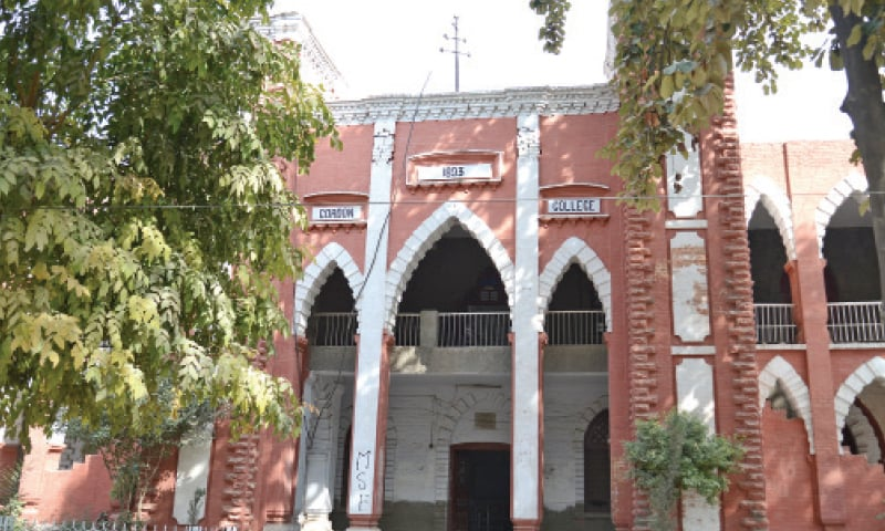 Gordon College near Liaquat Bagh in Rawalpindi.