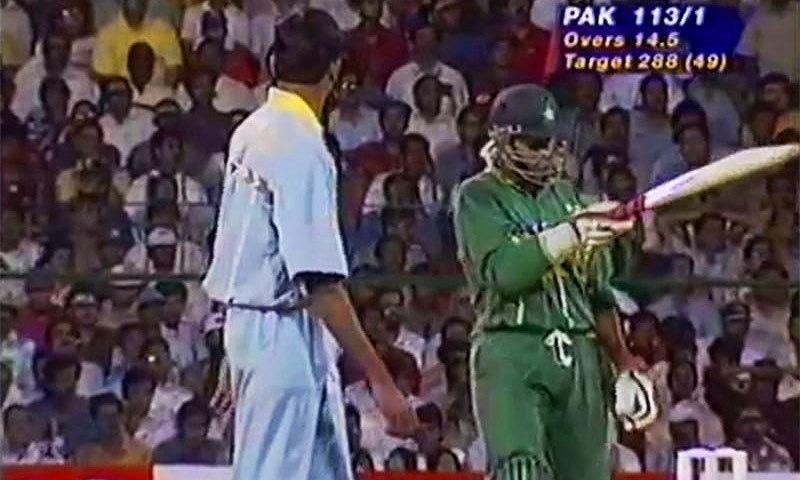 Worldcup 1996: Amir Sohail and Prasad. —Screengrab