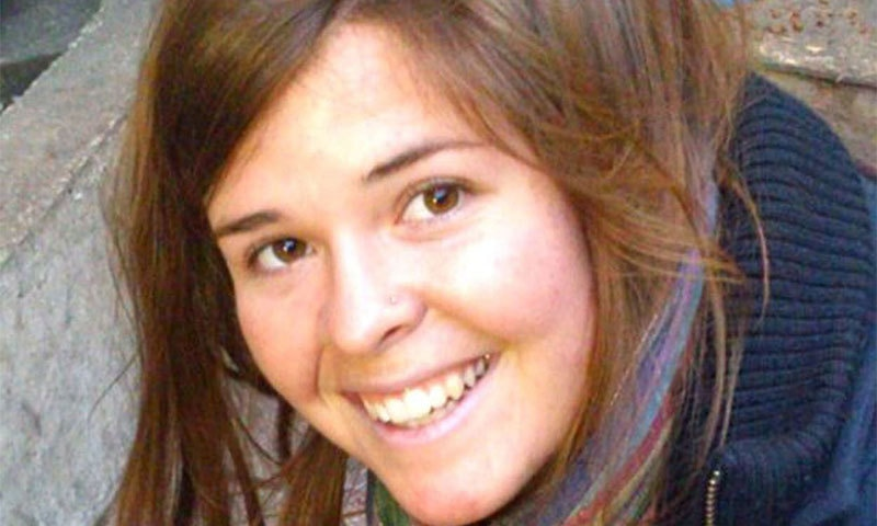 This undated handout file photo shows 26-year-old Kayla Jean Mueller. -AFP Photo