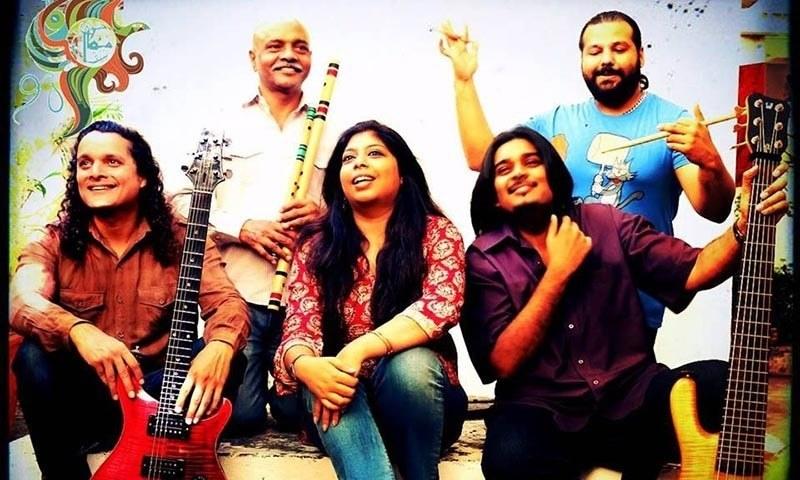 L -R: Mekaal Hasan, Ahsan Papu, Sharmistha Chatterjee, Sheldon D'Silva and Gino Banks. – Mekaal Hasan Band's Facebook page