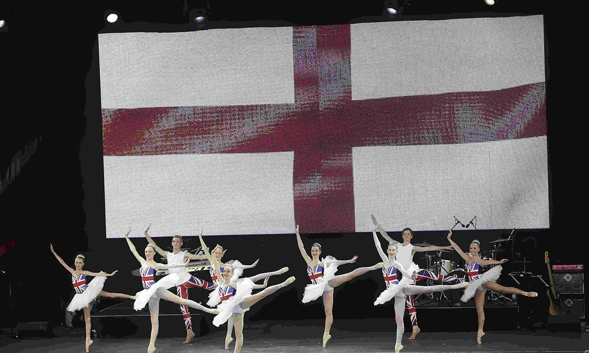 Dance School of Distinction, representing England, perform during the ICC World Cup 2015 opening event at the Sidney Myer Music Bowl in Melbourne on February 12, 2015. — Reuters