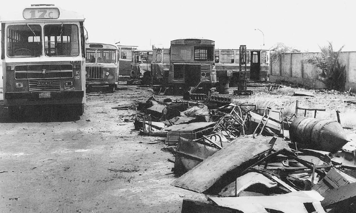 Korangi Bus Depot: graveyard of KTC buses