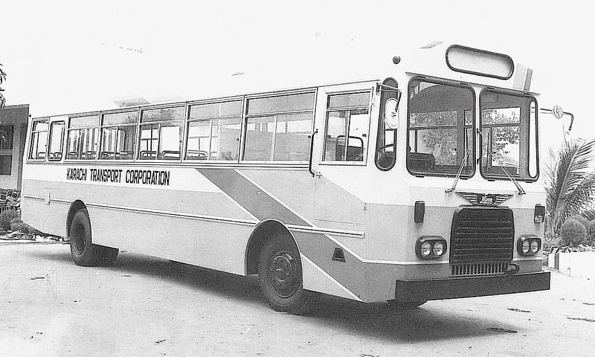 Past glory: a bus ready to be inducted into the KTC fleet