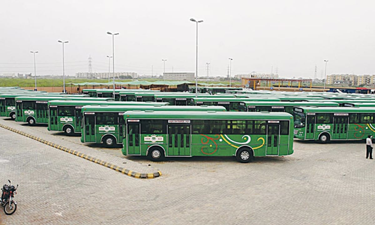 """Reinventing the wheel: """"Green Buses"""" that run on CNG are the newest incarnation of the KTC. They were first introduced by the CDGK but died with the demise of the local government system. The same buses were reintroduced by the Sindh Government."""