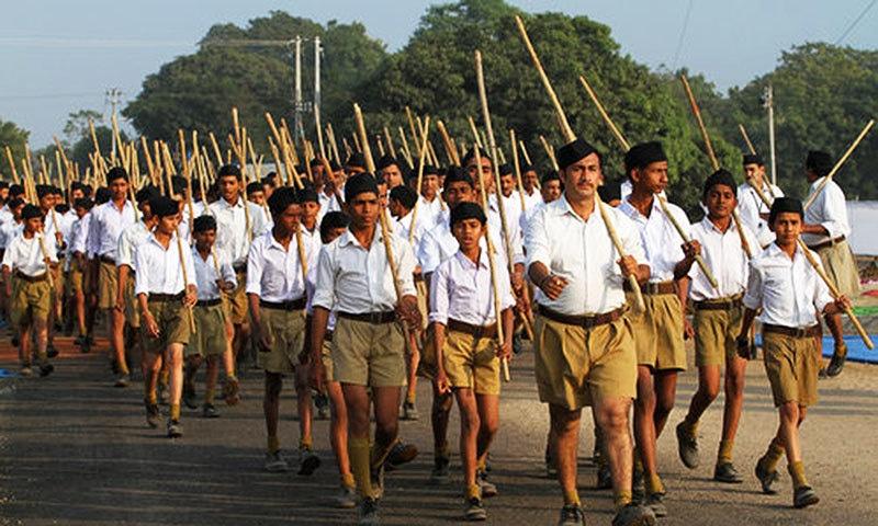 راشٹریہ سویم سنگھ (آر ایس ایس) کے کارکنان—اے پی/فائل