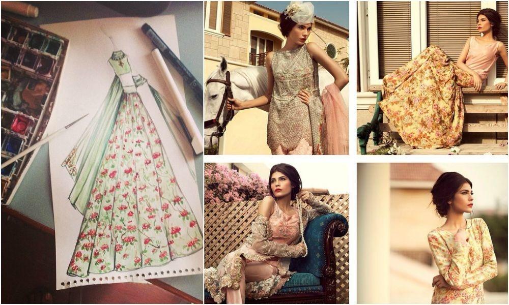 Amna Babar models the 'City of Gardens' collection. — Photo courtesy: Zara Shahjahan's Instagram