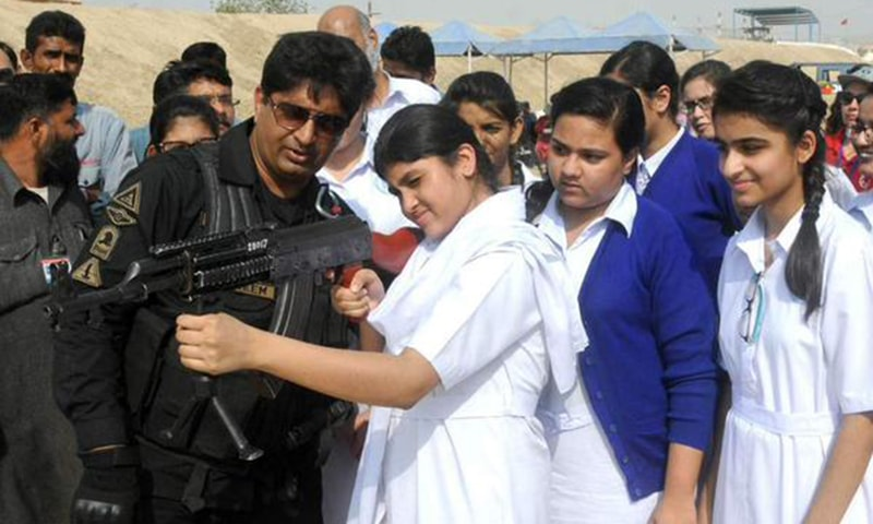 Sindh Police also provided training to students and teachers in the aftermath of the APS attacks. —  Sindh Police Twitter.