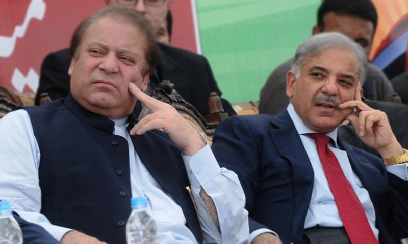 Nawaz Sharif and Shahbaz Sharif.—AFP/File