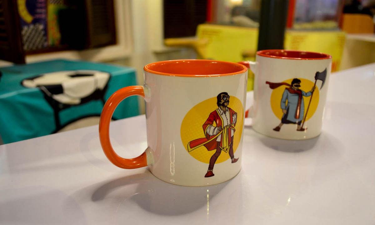Ainak Wala Jinn and Maula Jutt mugs by Dastaan-e-Pakistan