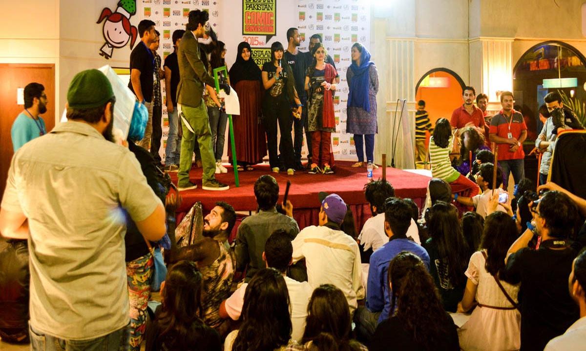 Artists like Babrus Khan assemble on stage