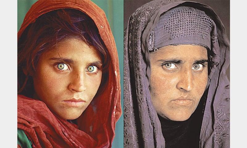 SHARBAT Gula in 1984 and 2002.