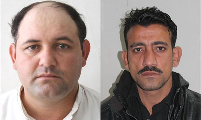 Men identified by Nadra as Sharbat Bibi's sons Wali Khan (L) and Rauf Khan (R).