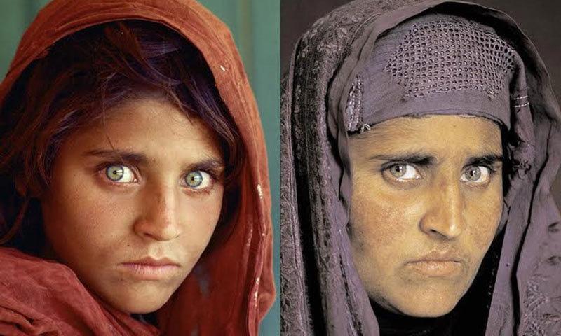 Sharbat Gula in 1984 and 2002.