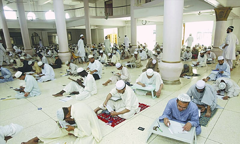 2007: Dars-i-Nizami exams at Jamia Binoria, Karachi—Reuters file photo