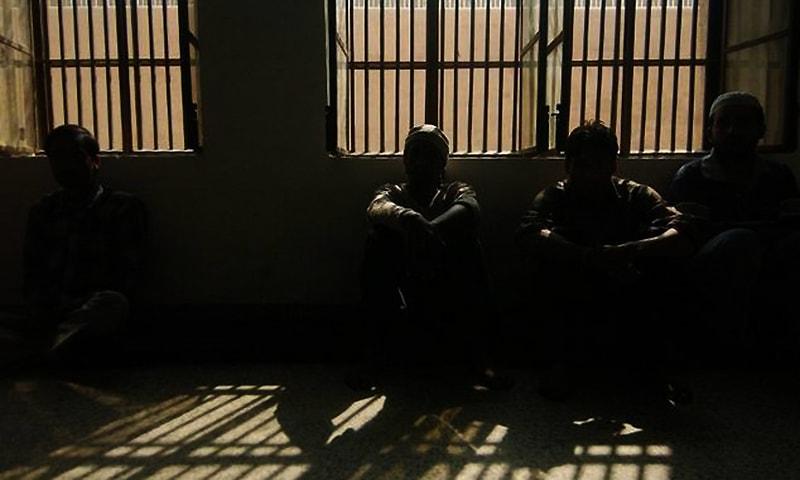 Prisoners inside a jail.  — AFP/File