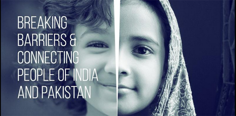 Image shows India Loves Pakistan, social movement's lofty aims - Twitter courtesy photo