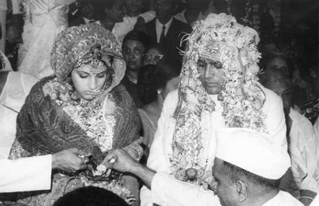 Dimple Kapadia weds Rajesh Khanna. Photograph courtesy: Jagdish Aurangabadkar and the late Shyam Aurangabadkar