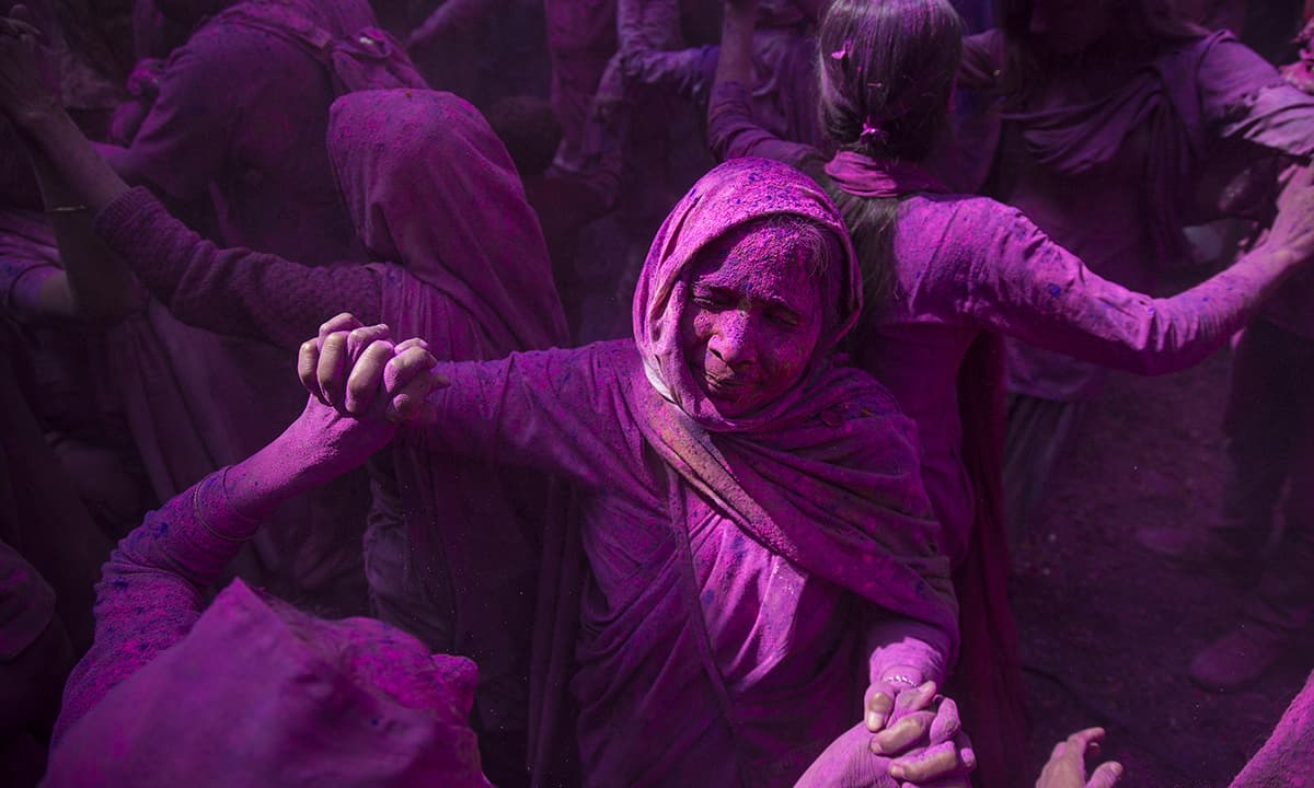 Some of these widows are celebrating Holi for the first time.