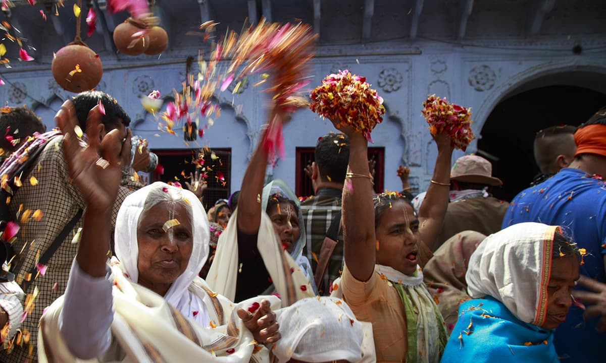 Until recently widows were not allowed to play Holi after their husbands' death. But things are changing now.