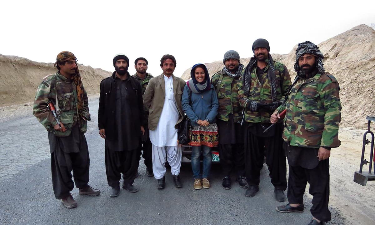With levies in Balochistan.