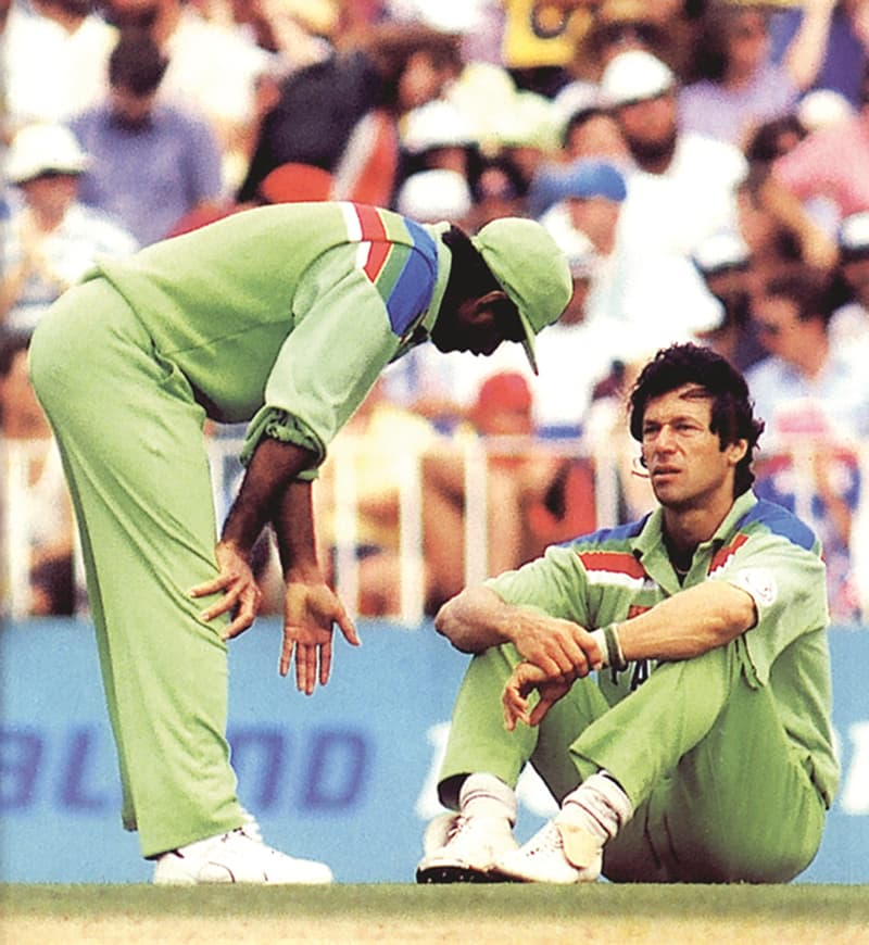 The two mainstays of Pakistan cricket in the 1980s and early 1990s.