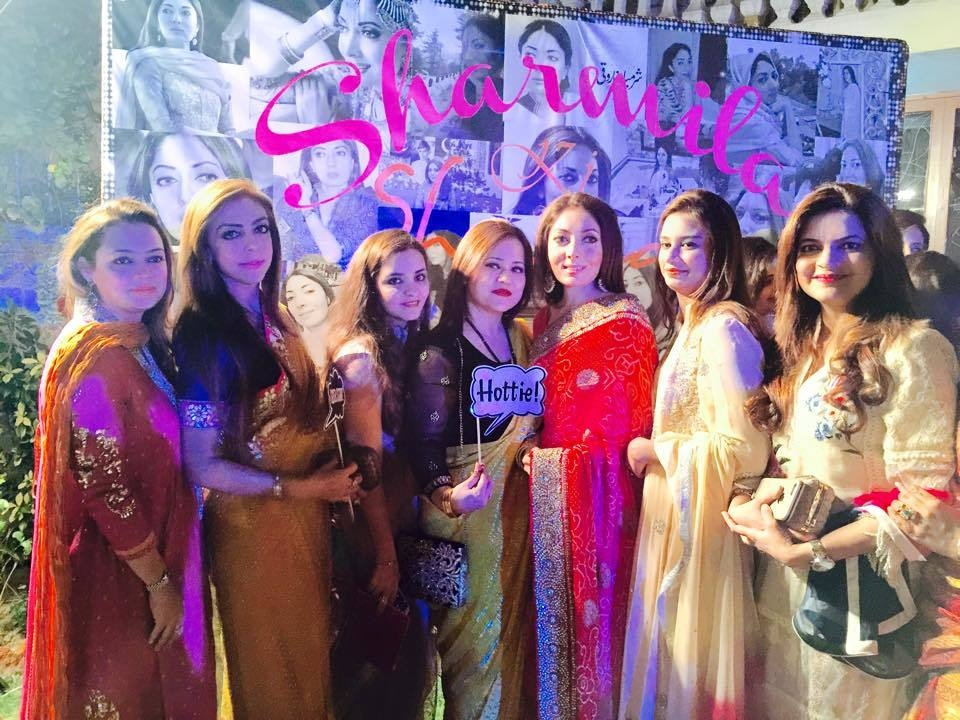 Sharmila and her friends pose. — Photo courtesy Sharmila Farooqi