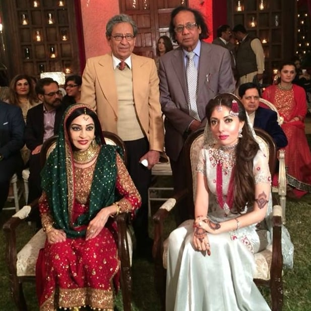 Sharmila with her family at the nikkah. — Photo courtesy Sharmila Farooqi