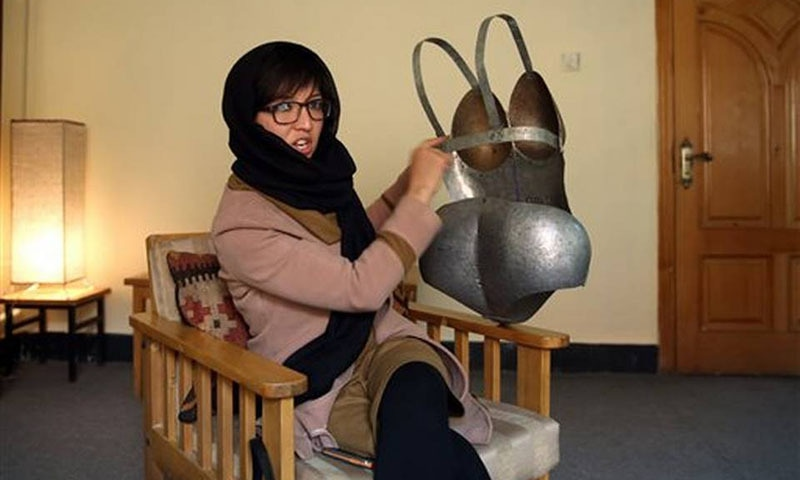 Kubra Khademi said she wanted to highlight her country's tolerance of violence after more than 30 years of war. — AP