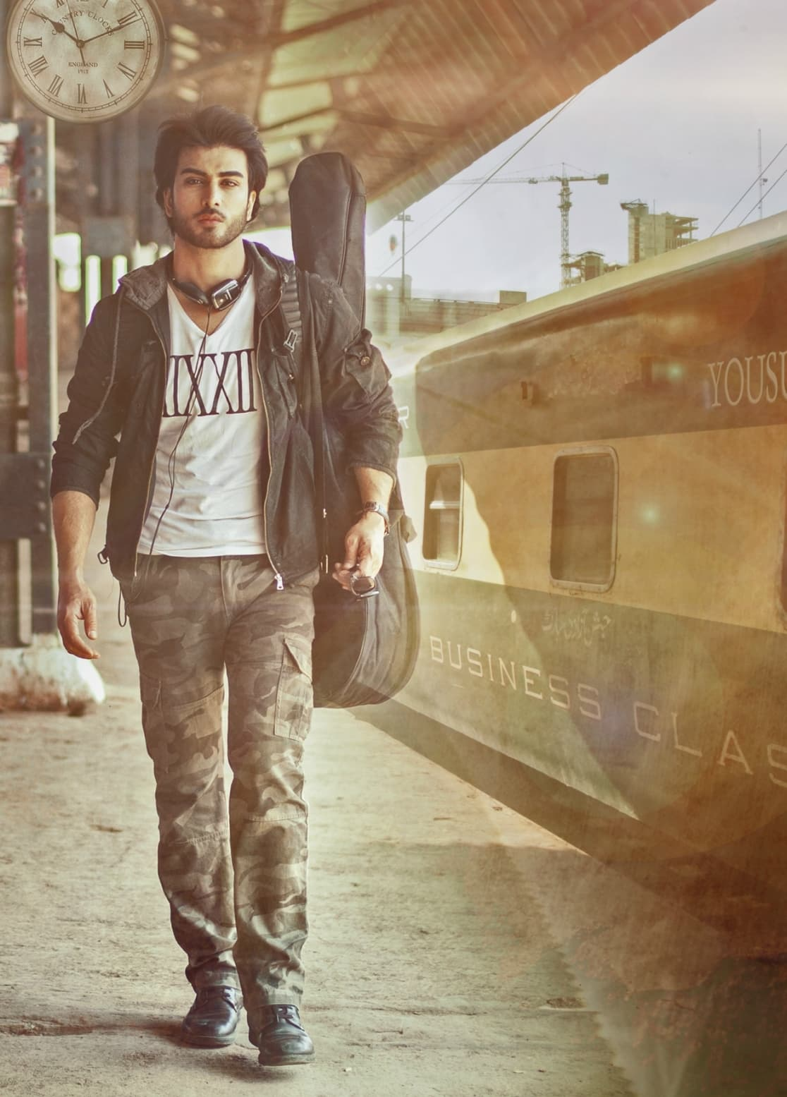 Yousuf on that infamous train platform. — Photo: Publicity