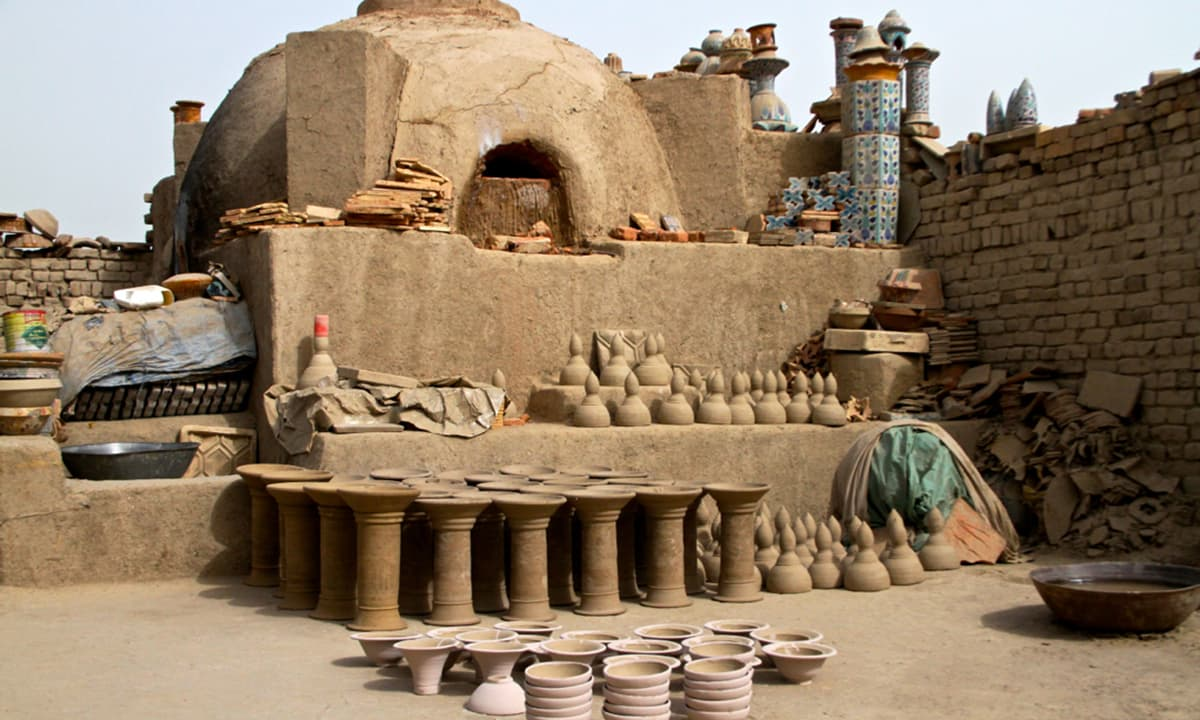 A ancient pottery yard.