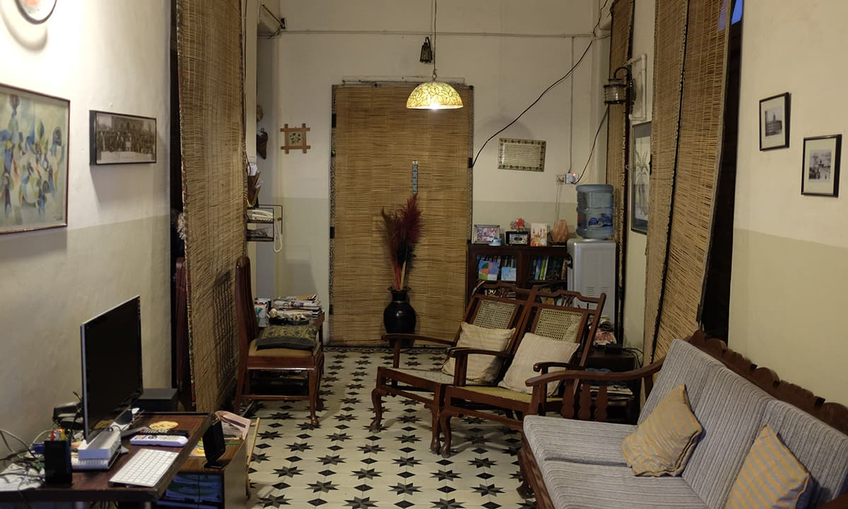 The interior of a house in Parsi Colony.