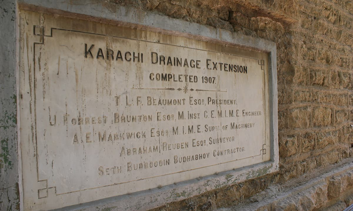 Karachi's first drainage system was designed by James Strachan who is famously known for designing Merewether Tower, Denso Hall and DJ Science College among others