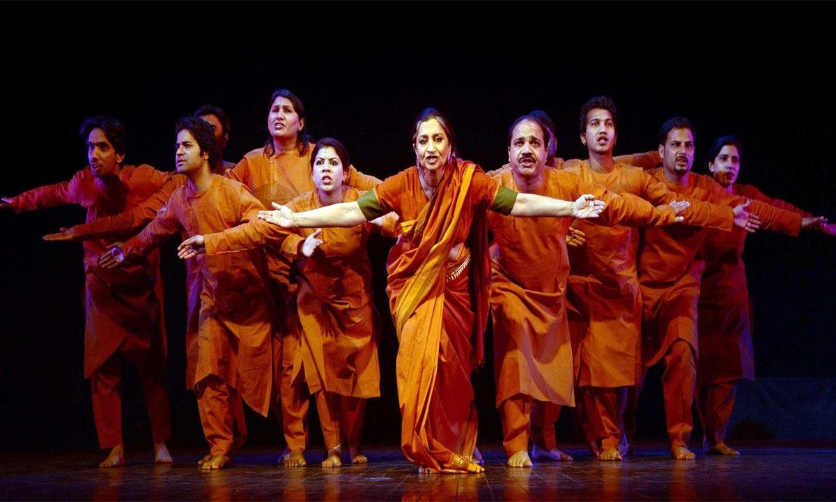 Classical dancers take part in a performance on International Women's Day. – AFP