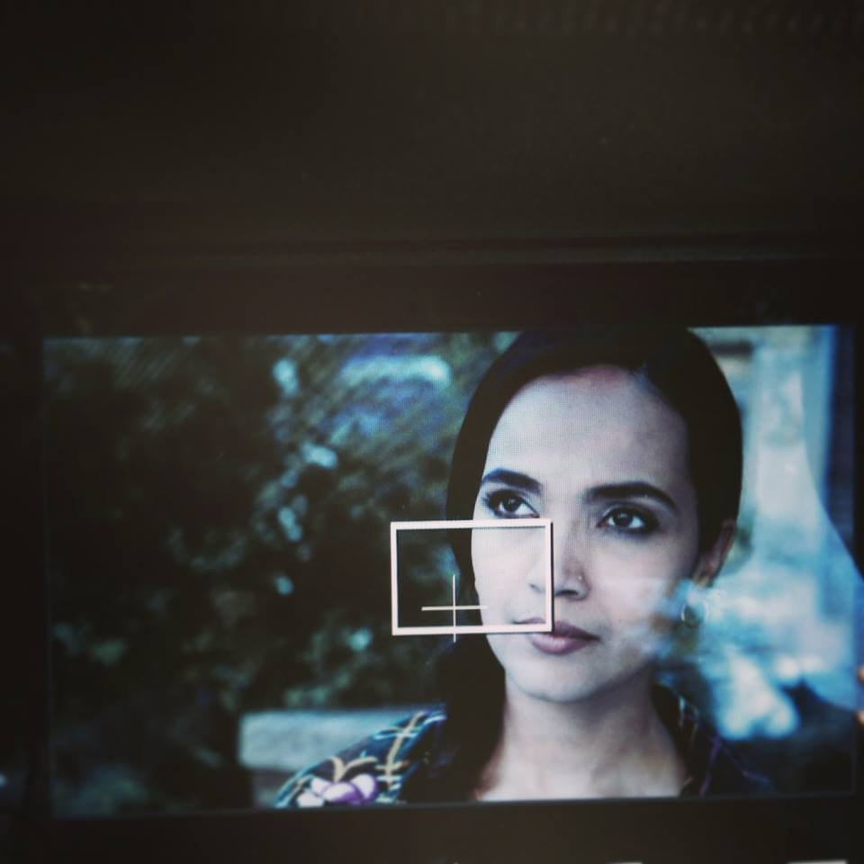 A behind-the-scenes shot of Aamina Sheikh as Salma. Photo: Jackson Heights Facebook.