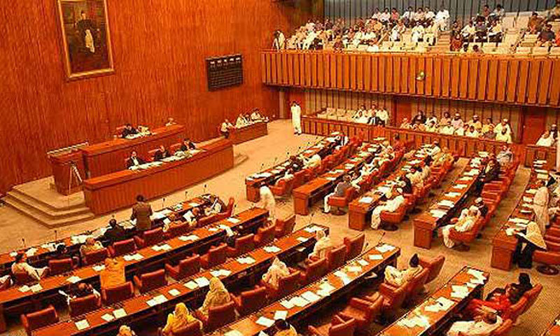 The Senate's first session of 13th parliamentary year had been summoned by President Mamnoon Hussain.— APP/file