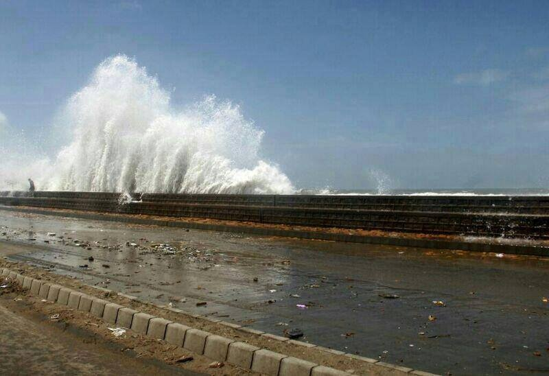 Waves from the Arabian Sea hit the coast of Karachi. The sound they make is distinctively Arabic.