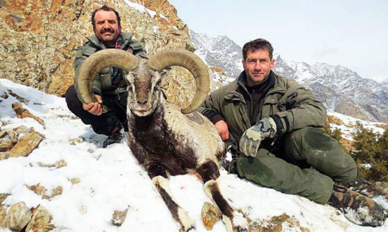 Italian hunter Boieti Gian Carlo  with his prized catch. —Dawn