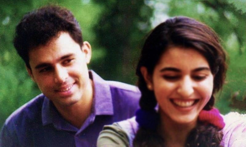 Captain (retd) Abdullah Mehmood who plays Captain Kashif Kirmani (L) is seen along with Shahnaz(R), the leading female role, in Alpha Bravo Charile series —Screengrab