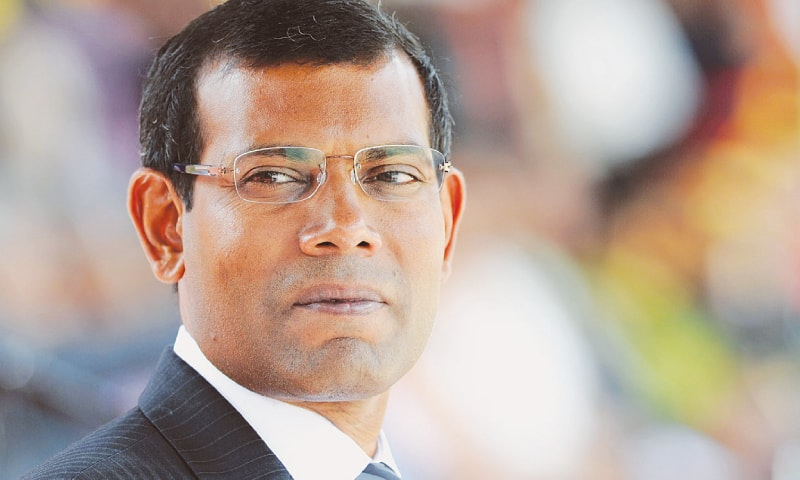 A three-judge bench unanimously found Nasheed guilty of ordering the arrest of a chief judge in January 2012.