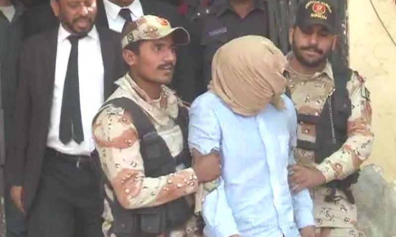 MQM worker Umair Siddiqui - DawnNews screengrab