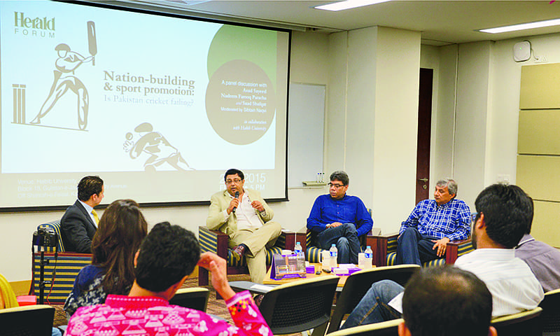 Audience members listen on as the discussion unfolds — Syed Tahir Jamal/ White Star