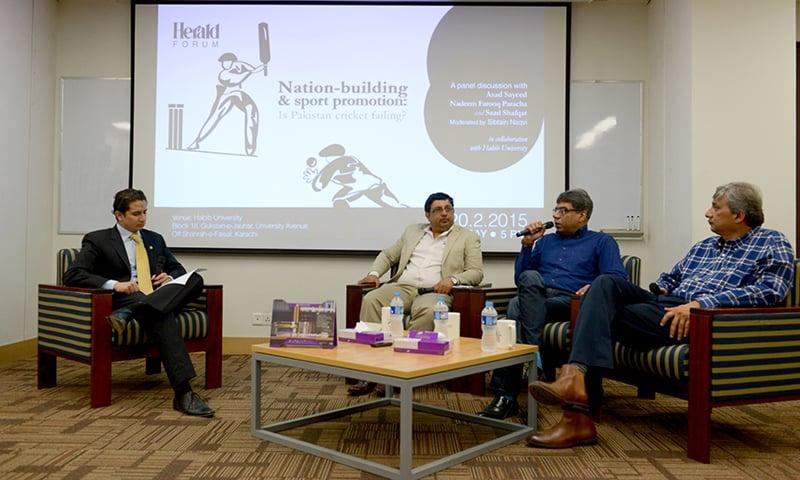 Left to right: Sibtain Naqvi, Asad Sayeed, Nadeem Farooq Paracha and Saad Shafqat — Syed Tahir Jamal/ White Star