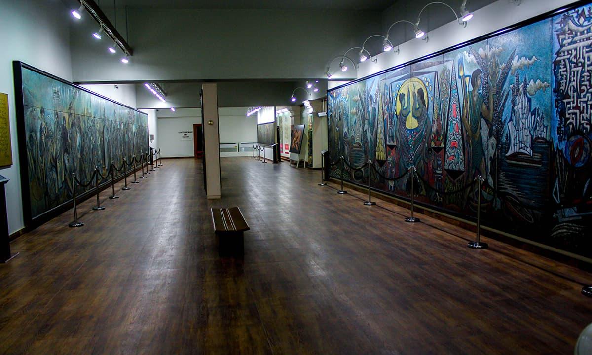 Inside the Sadequain gallery.— Muhammad Umar