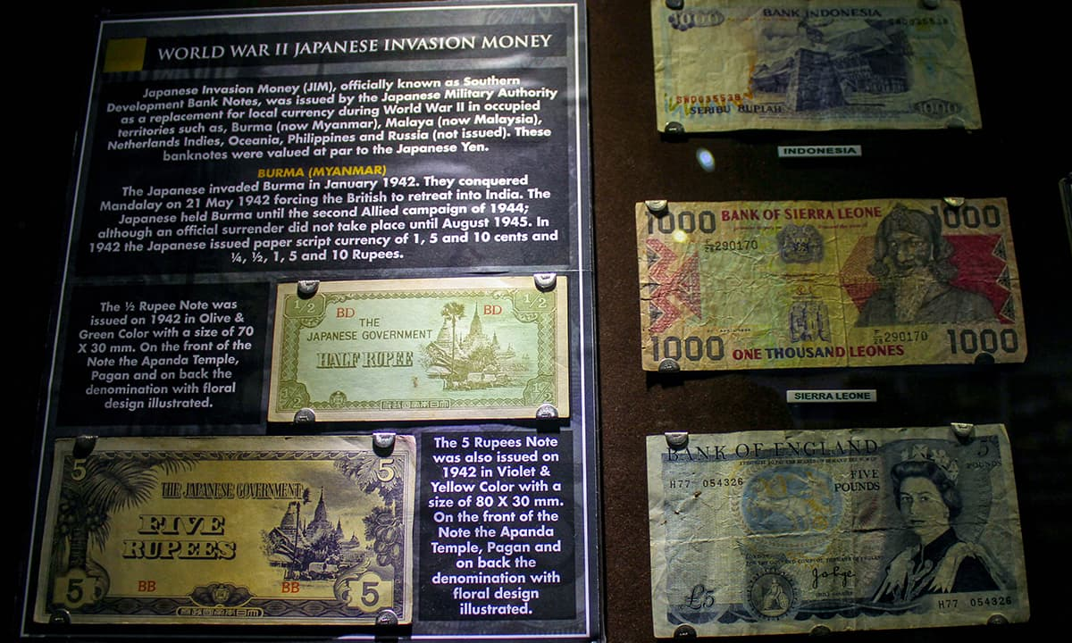 Japanese Invasion Money used during World War II.— Muhammad Umar