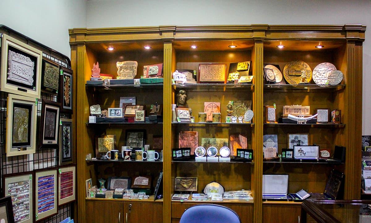 The souvenirs shop inside the museum.— Muhammad Umar