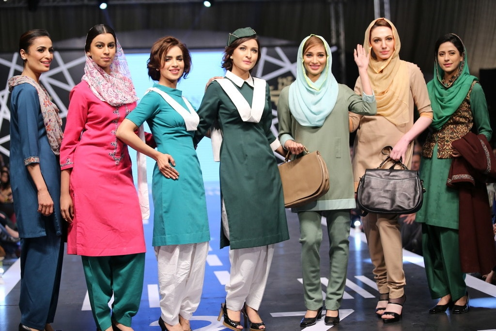 The PIA uniform has been designed by many famous designers in the past, such as Laila Shahzada, Chausie Fountainer. —Publicity photo