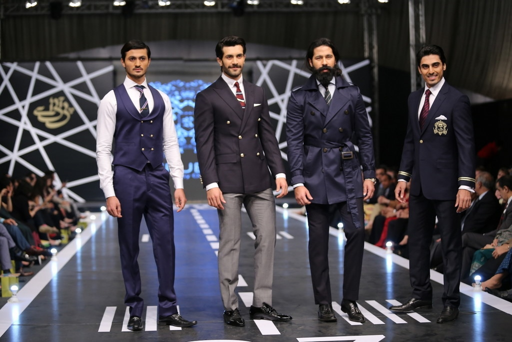 Omer Farooq's label showed well-tailored suits with evident attention to detail.  —Publicity photo