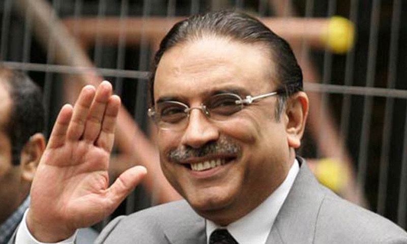 PPP Co-Chairman Asif Ali Zardari made a telephone call to MQM chief Altaf Hussain in London and informed him about the PPP's decision.—AP/File