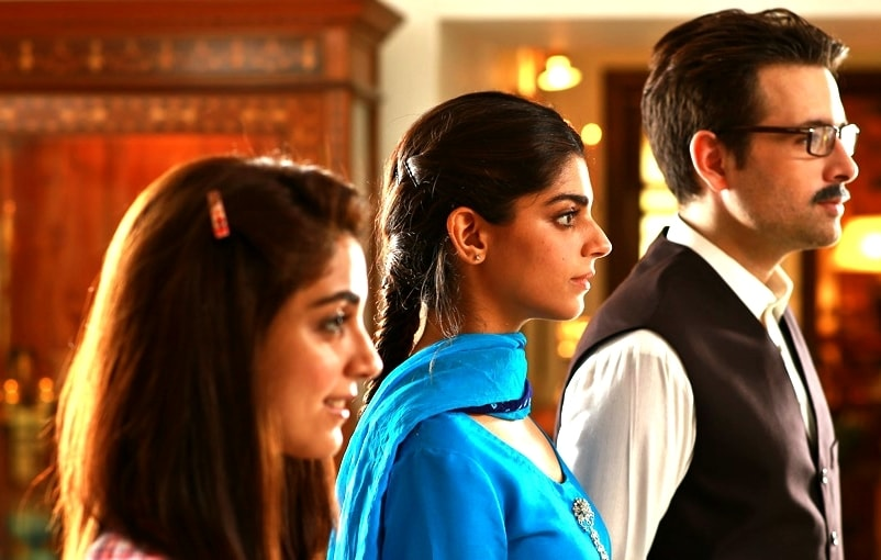 Maya Ali, Sanam Saeed and Mikaal Zulfiqaar in 'Diyaar-e-Dil'.— Photo courtesy: Hum.tv
