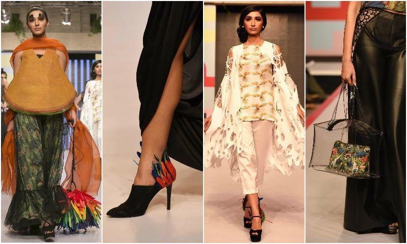 Madiha Raza's 'Flight of Birds' at New York Millennial Fashion 2014 was was vibrant and unique. —Photo courtesy: Tapu Javeri and Kashif Rashid
